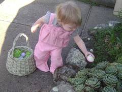 Baby's first easter egg hunt