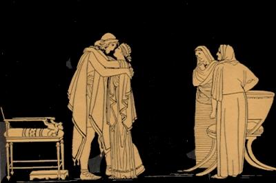 Encuentro de Odiseo y Penélope
