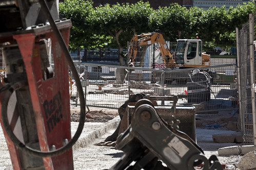 Obras en los aledaños del mercado municipal (IV)