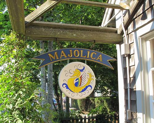 Majolica sign, Nantucket