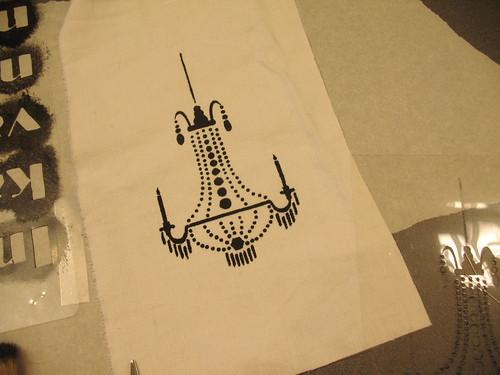 chandelier test print