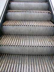 Wooden escalator, Greenford Underground Station, London