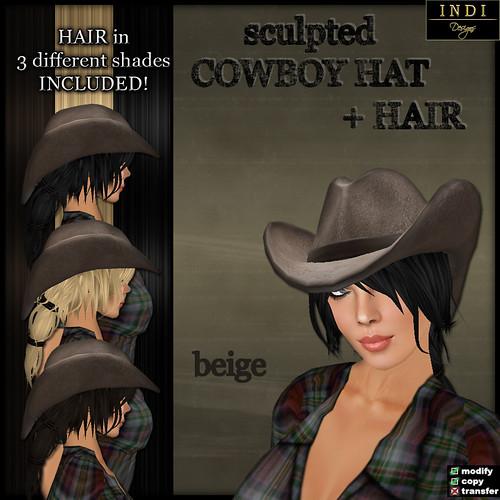 Cowboy Hat beige