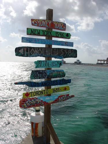 Mileage Marker, Grand Cayman by DRheins