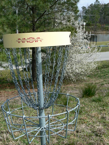 Fun Junktion Frisbee Golf Course - Hole and Bradford Pear
