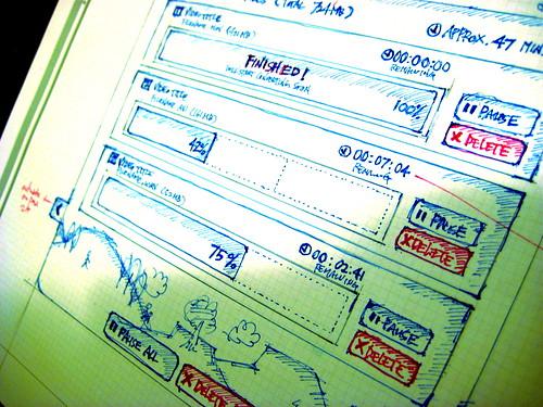 sketch: vimeo desktop uploader ideas by soxiam.