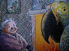 Virginia Woolf, La vedova e il pappagallo, Emme Edizioni 1984. Illustrazioni di Franco Matticchio: cop. (part.)