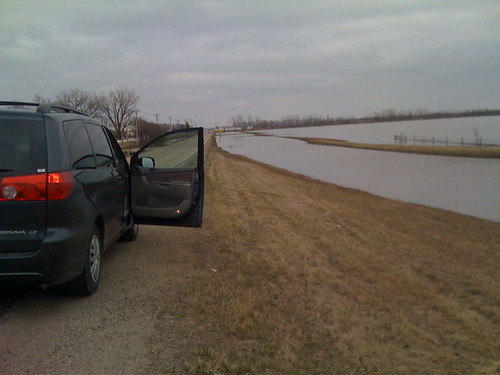 Van and flood