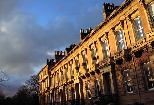 Kirklee Terrace in der Abendsonne