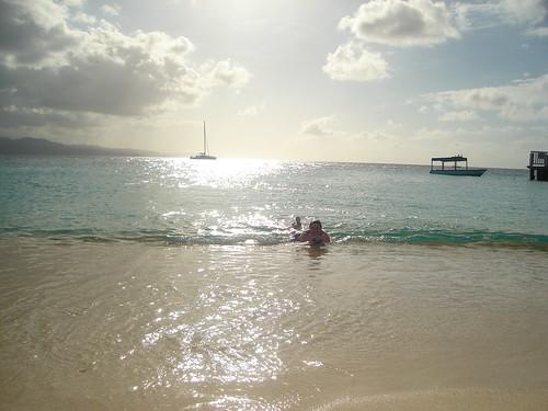 Jenn in the water - DSC03642