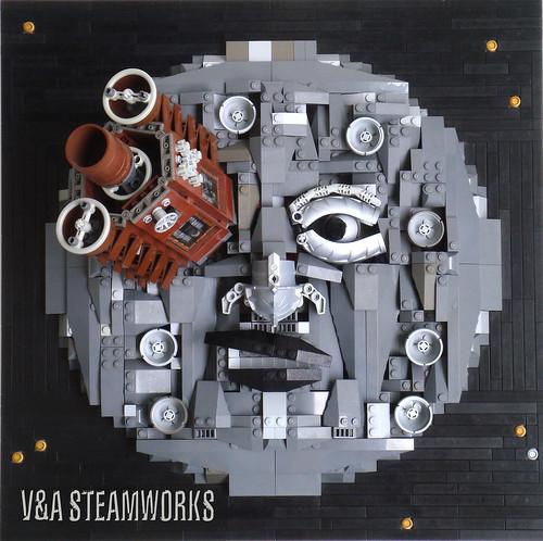LEGO steampunk moon rocket