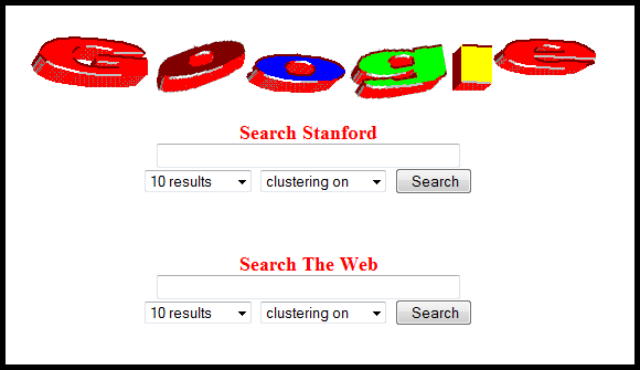 An early photo of Google's logo. Source
