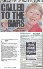 Margaret Scanlan - Called to the Bars - Sunday Mail  15 March 2009 email
