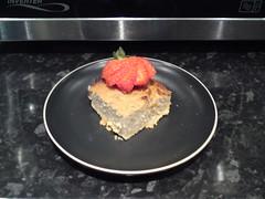 Gorilla Cake piece with strawberry