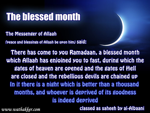 The blessed month by straight path.