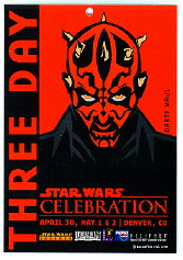 Darth Maul 3 day pass