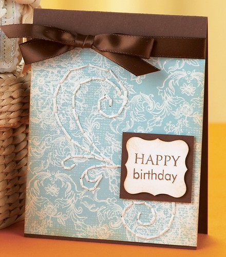 And heres Dawns elegant Happy Birthday Card, also from our May/June issue.