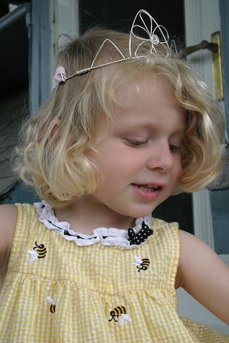 Princess Leda Models a Crown