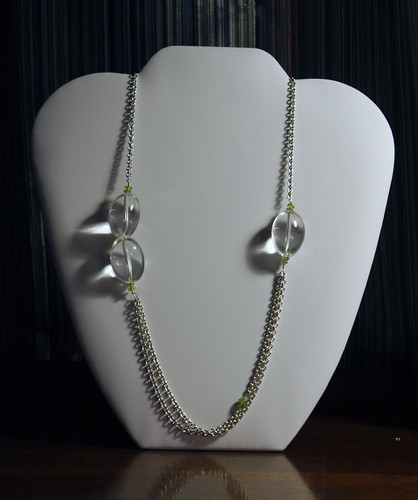 Crystal and Peridot Necklace