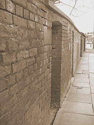 gates in the garden walls