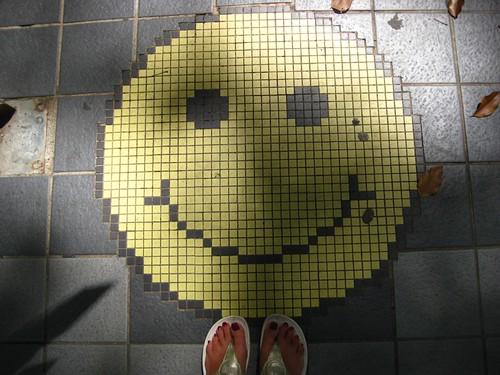 sidewalk smile