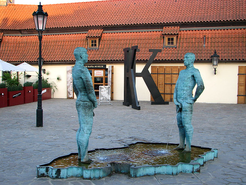 Peeing statues by you.