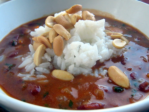 Nigerian Kidney Bean and Peanut Stew
