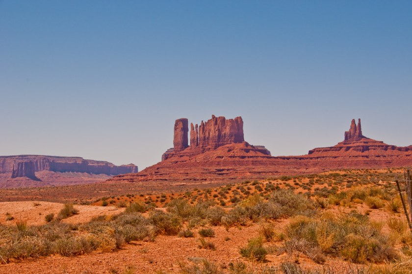 Much eroded buttes, Monument Valley