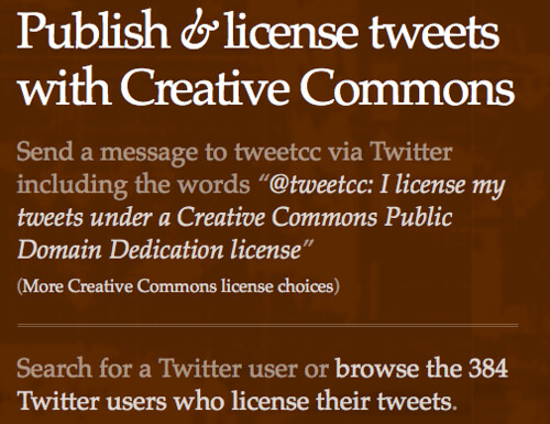tweetcc - creative commons on twitter