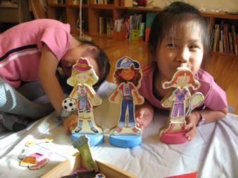 【玩具】磁性木頭洋娃娃