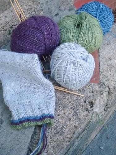 fair isle pullover, sleeve 1