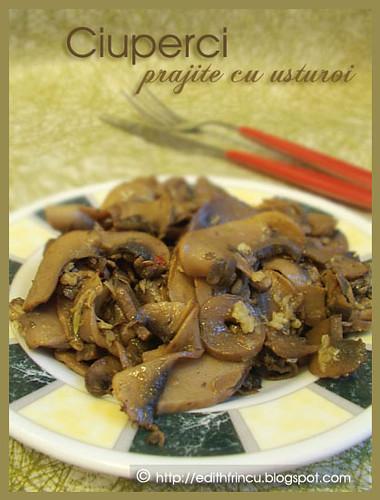 ciuperci prajite cu usturoi