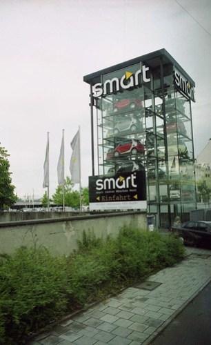 green smart car dispenser