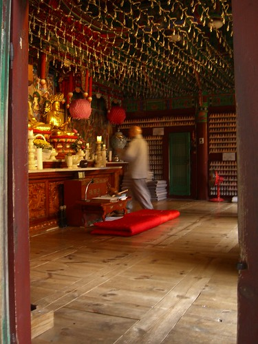 I like the feeling of motion I get from the monks blur...