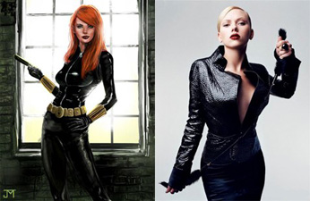 Scarlett Johanssen as Black Widow Scarlet Johansen