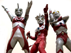 Ultraman Ace, Leo and 80 by JazZ_React