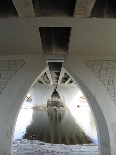 Under the Orange Street Bridge in Missoula