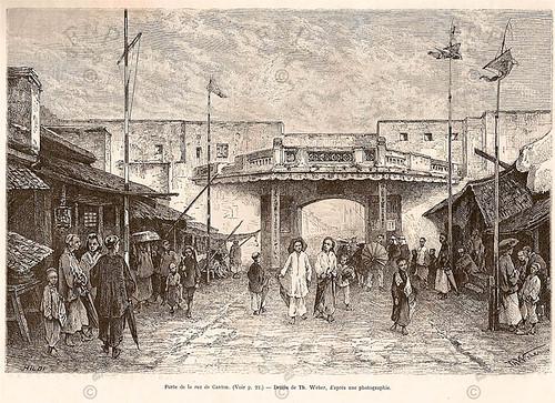 Porte de la rue de Canton