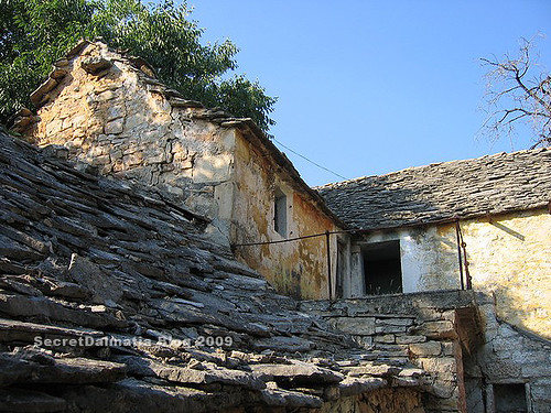 The stone roofs...