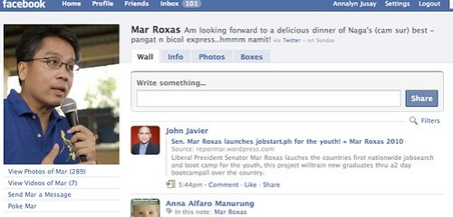 Mar Roxas on FB