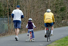 Bicycle & Jogger with child ride along the bik...
