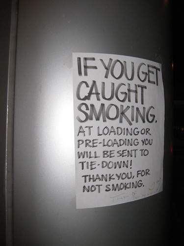 Don't smoke...