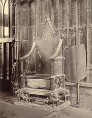 Coronation Chair with Stone of Scone, Westmins...