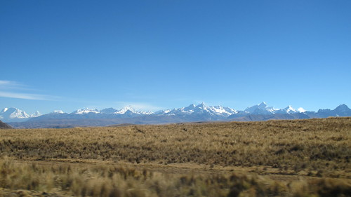 The Cordillera Blanca from the road to Huaraz