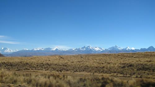 The Cordillera Blanca from the road to Huaraz