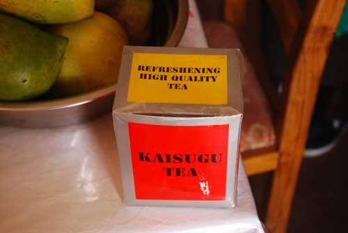 Tea label in Kenya