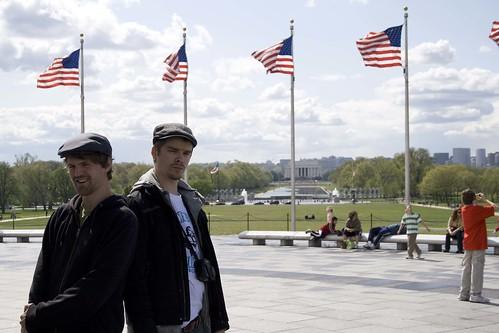 Tøffassanne med Lincoln Memorial i bakgrunnen.