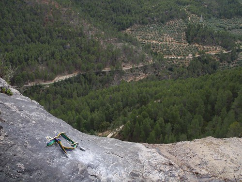 Vista desde arriba, Reunion con 3 spits.