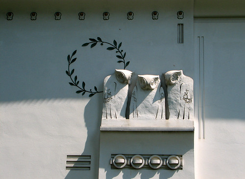 Decorations on the wall of the Secession building by you.