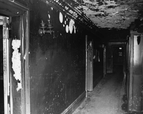 Mansion after the fire. Click photo to see more images.